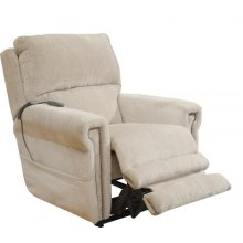 Power Headrest w/Lumbar Power Lay Flat Recliner - Putty