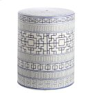 Parri Garden Stool - Blue / White Product Image
