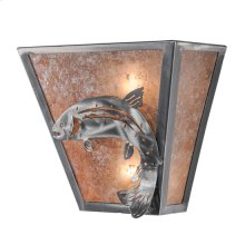 """13""""W Leaping Trout Wall Sconce"""