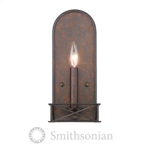 Smithsonian Gateway 2 Light Wall Sconce in Fired Bronze