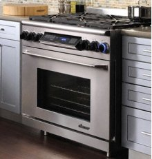 "Discovery 36"" Range, in Stainless Steel with Chrome Trim (Liquid Propane)"