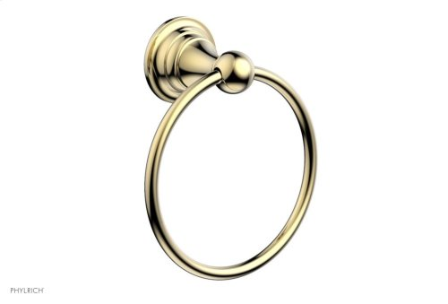 COURONNE MAISON Towel Ring 163-75 - Polished Brass Uncoated