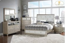 HOMELEGANCE 1708-1-9 Odelia Queen Sleigh Bed, Nightstand, Dresser, Mirror & Chest Group