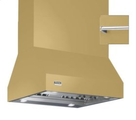 """36"""" Wide Island Hood, Chrome Accessory Rail on front and back"""