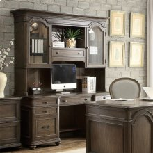 Belmeade - Credenza Hutch - Old World Oak Finish