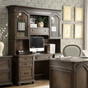 RiversideBelmeade - Credenza Hutch - Old World Oak Finish