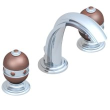 Widespread Lavatory Set With Drain for Counter Thickness Greater Than 1 1/4""