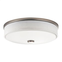 Ceiling Space Collection 3 Light Flush Mount Fluorescent Ceiling  Brushed