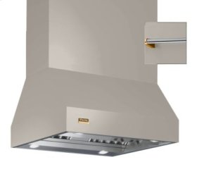 """42"""" Wide Island Hood, Brass Accessory Rail on front, back and both sides"""