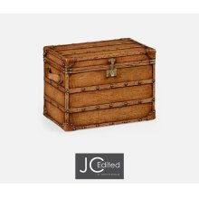 Walnut & Leather Steamer Trunk