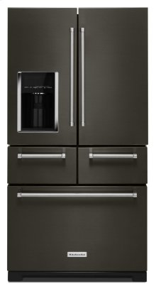 """25.8 Cu. Ft. 36"""" Multi-Door Freestanding Refrigerator with Platinum Interior Design - Black Stainless"""