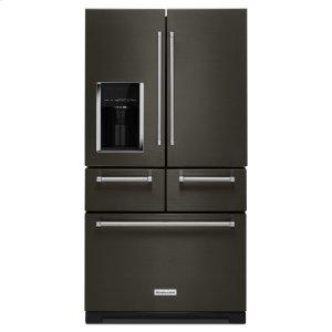 "25.8 Cu. Ft. 36"" Multi-Door Freestanding Refrigerator with Platinum Interior Design - Black Stainless Steel with PrintShield™ Finish Product Image"