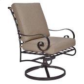 Club Dining Swivel Rocker Arm Chair