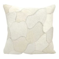 """Natural Leather Hide C4600 White 20"""" X 20"""" Throw Pillow Product Image"""