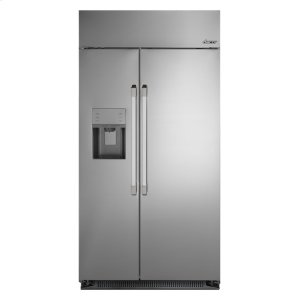 """DACORDiscovery 42"""" Built-In Side-by-SideRefrigerator, in Stainless Steel with Pro Style Handle"""