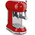 Espresso Coffee Machine Red Product Image