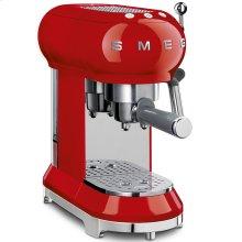Smeg 50s Retro Style Design Aesthetic Espresso Coffee Machine, Red