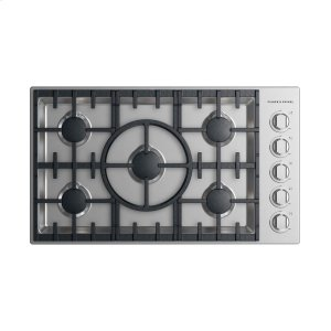 "Fisher & PaykelGas Cooktop 36"", 5 burner"