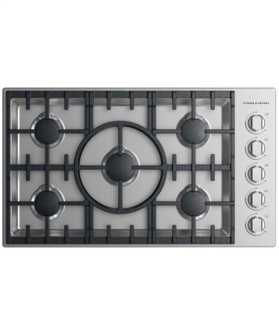 """Gas Cooktop 36"""", 5 burner Product Image"""