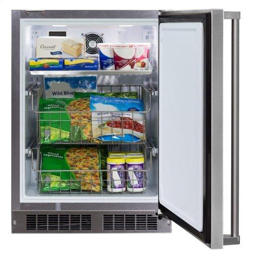 "24"" Marvel Outdoor All Freezer - Solid Stainless Steel Door with Lock, Right Hinge"