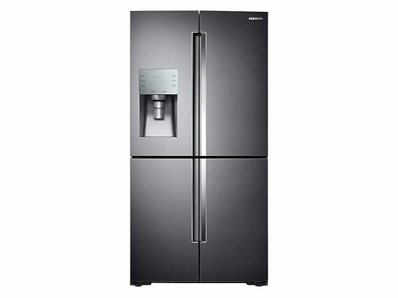Samsung28 Cu. Ft. Food Showcase 4-Door Flex™ Refrigerator With Flexzone™ In Black Stainless Steel