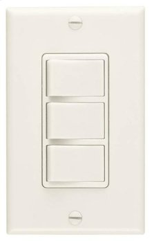 Multi-Function Wall Control in Ivory; Ventilation Fans