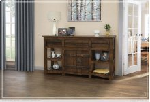 3 Drawer & 2 Doors Console