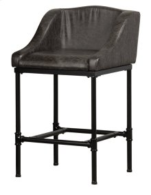 Dillon Stationary Counter Stool - Matte Black