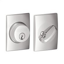Single Cylinder Deadbolt with Century trim - Bright Chrome