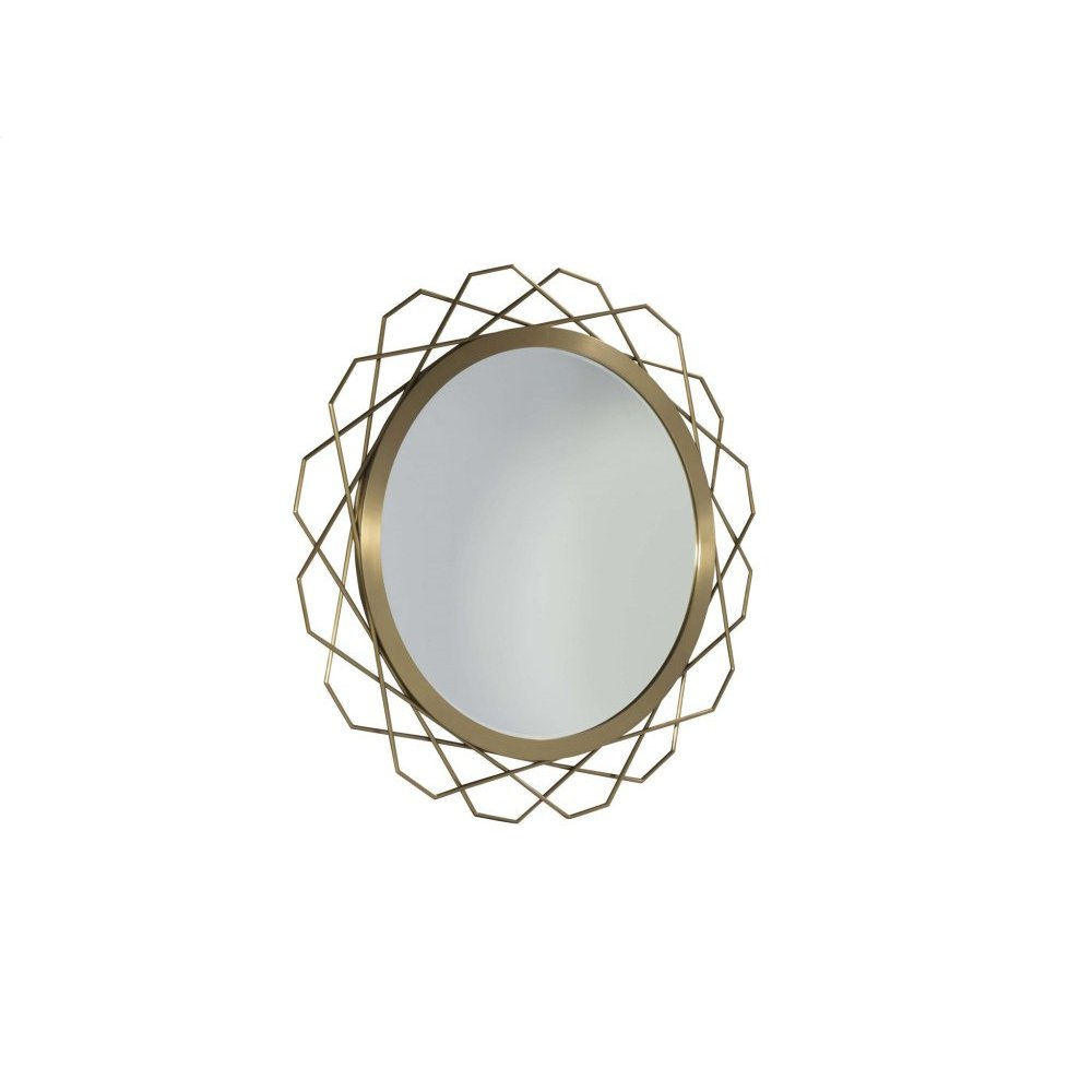 Bauble Round Metal Mirror