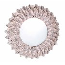Pile Pink Distressed Mirror Product Image