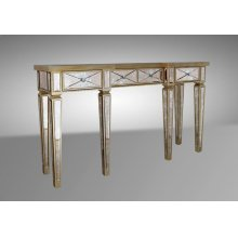 Modrest Harmon - Transitional Mirror Console Table