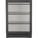 OASIS Two Drawer Cabinet with False Top Drawer , Grey Product Image