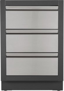 OASIS Two Drawer Cabinet with False Top Drawer , Grey