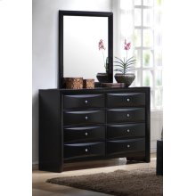 Briana Black Eight-drawer Dresser