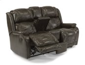 Marcus Fabric Reclining Loveseat with Console