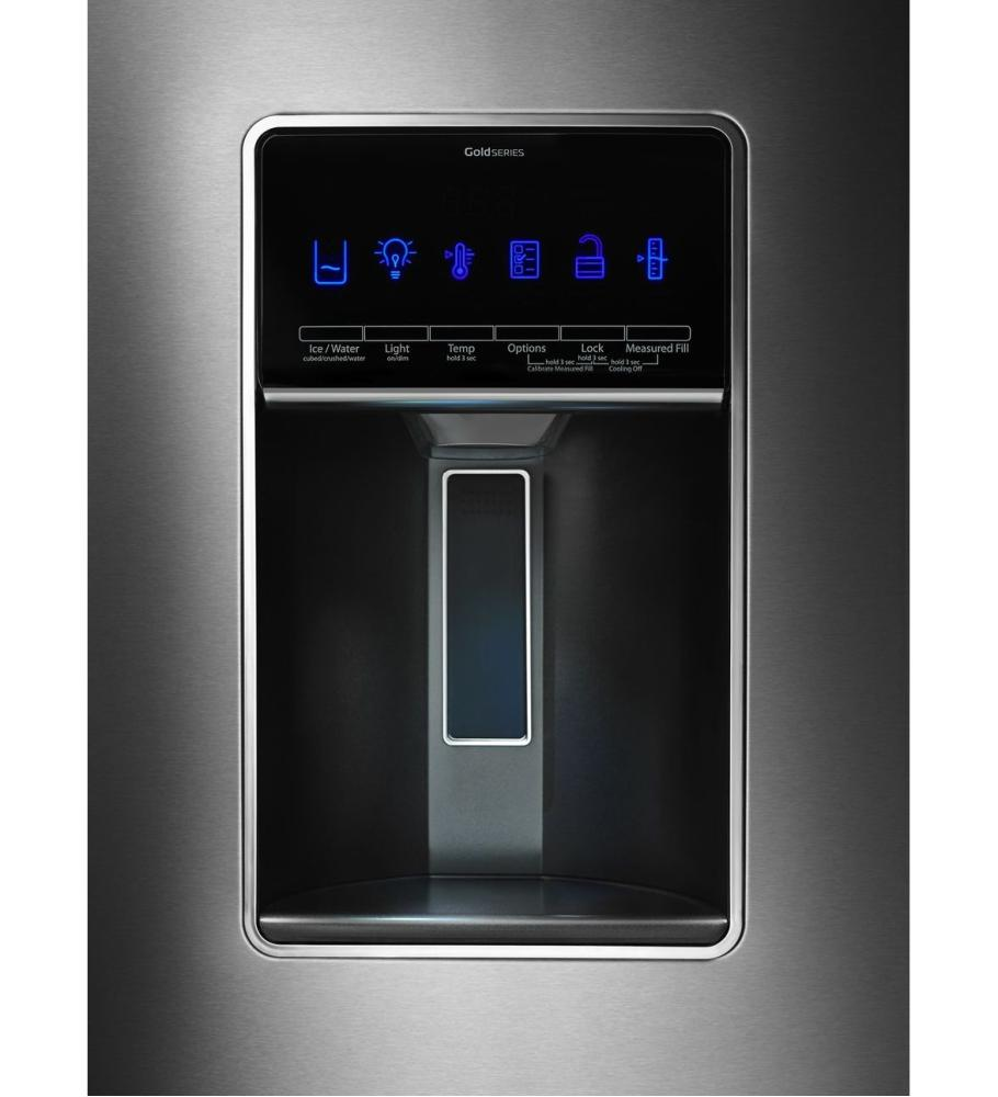 Merveilleux 36 Inch Wide French Door Refrigerator With CoolVox Kitchen Sound System    27 Cu.