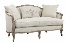 Settee-sand Gray Finish W2 Pillows & 1 Kidney Pillow-cream