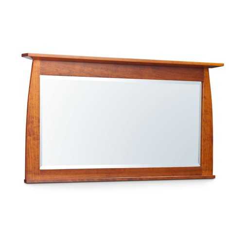 "Aspen Bureau Mirror with Inlay, 55""w, Cherry #26 Michael's, Aspen Bureau Mirror with Inlay, 55"", Cherry"