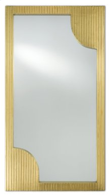 Morneau Brass Rectangular Mirror