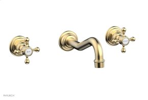 HENRI Wall Tub Set - Cross Handle 161-56 - Satin Brass
