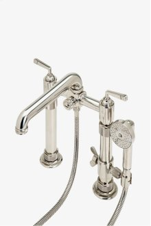 R.W. Atlas Exposed Deck Mounted Tub Filler with Handshower and Lever Handles STYLE: RWXT50