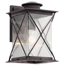"Argyle 12.75"" 1 Light Wall Light with LED Bulbs Weathered Zinc"