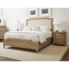 European Cottage Upholstered Bed - Khaki / Queen