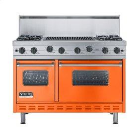"""Pumpkin 48"""" Sealed Burner Range - VGIC (48"""" wide, four burners 24"""" wide char-grill)"""