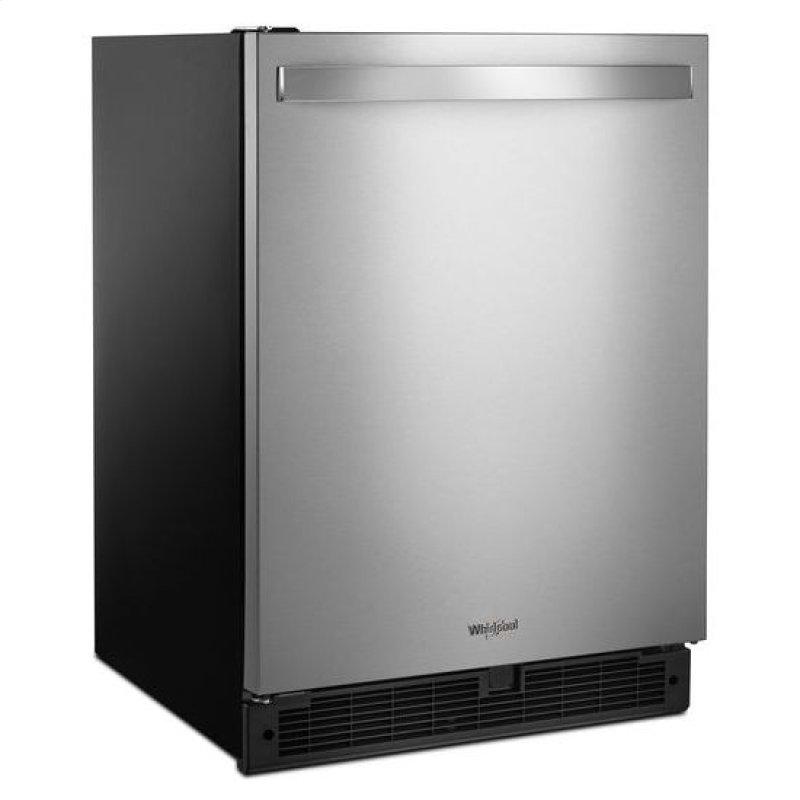 Whirlpool 24 Inch Wide Undercounter Refrigerator 5 1 Cu Ft Fingerprint