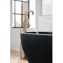 Single-handle Floor Mount Tub Filler - Less Handle