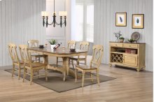 Sunset Trading 8 Piece Brook Double Pedestal Extension Dining Set with Server