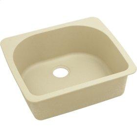 "Elkay Quartz Classic 25"" x 22"" x 8-1/2"", Single Bowl Top Mount Sink, Sand"
