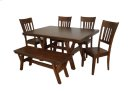 Solid Wood Ext. Table w/ Cable Slides Product Image